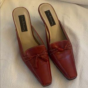 Red Heeled Loafer Slide